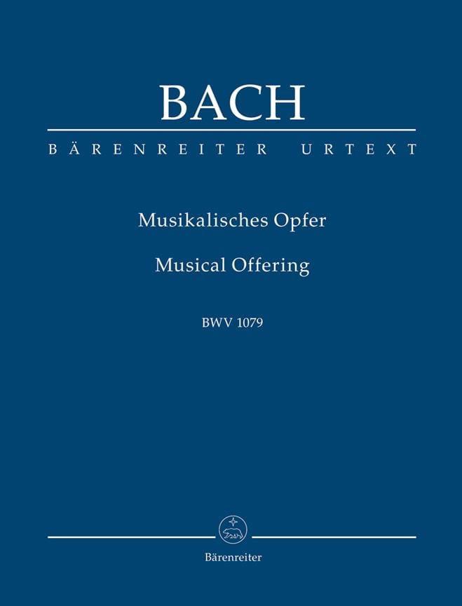 L' Offrande Musicale - Conducteur - BACH - laflutedepan.com