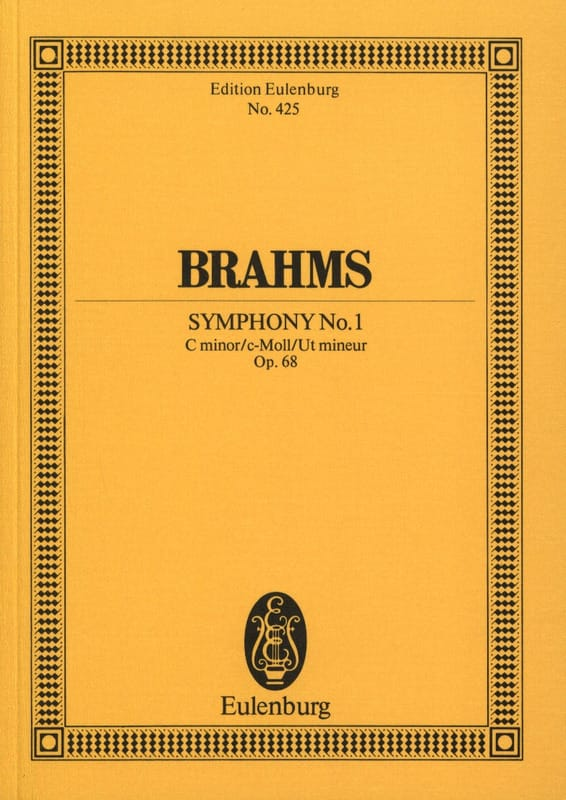 BRAHMS - Symphony No. 1 C Minor Op. 68 - Conductor - Partition - di-arezzo.com