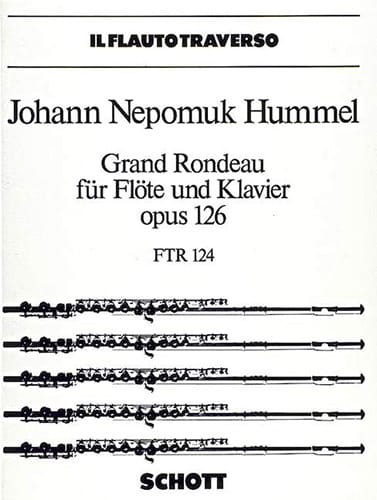 Grand rondeau op. 126 - Flöte Klavier - HUMMEL - laflutedepan.com
