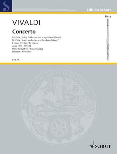 VIVALDI - Concerto in F Maj. - F. 6 n ° 12 The Tempesta Di Mare - Flute / Piano - Partition - di-arezzo.com