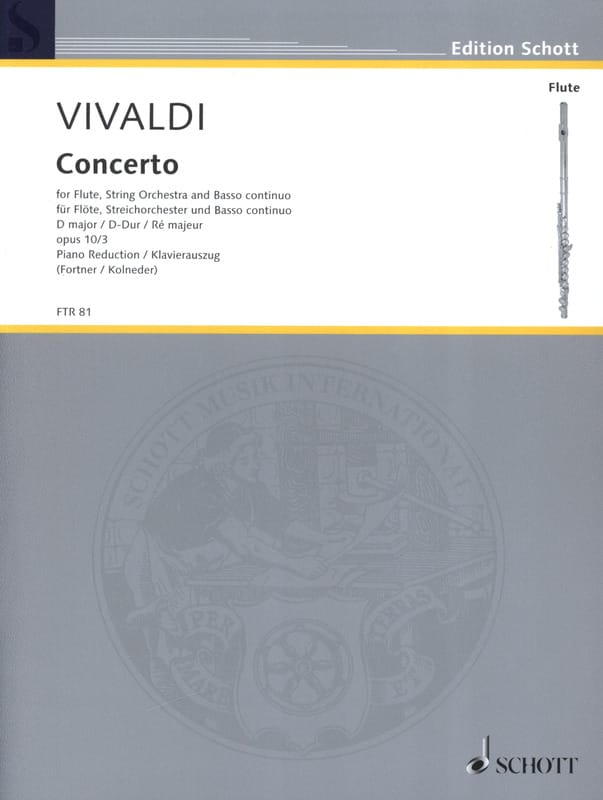VIVALDI - Concerto in D Maj. - F. 6 No. 14 Il Gardellino - Flute / Piano - Partition - di-arezzo.co.uk