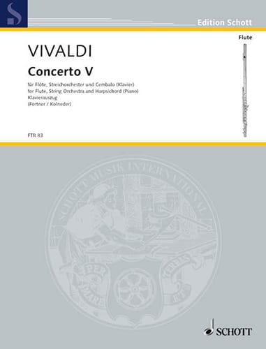 VIVALDI - Concerto F-Dur Op. 10 No. 5 - Partition - di-arezzo.co.uk