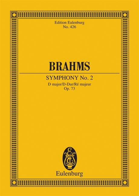 BRAHMS - Symphony No. 2 D Major Op. 73 - Conductor - Partition - di-arezzo.com