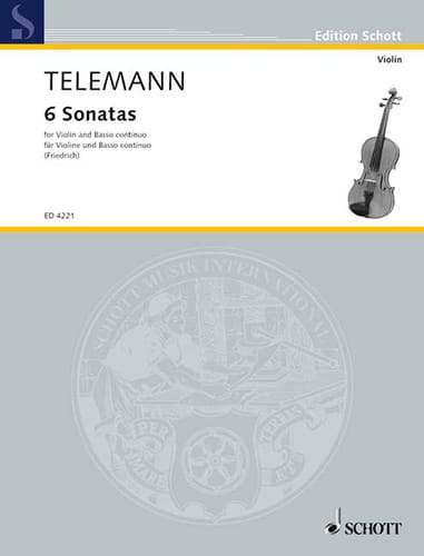 TELEMANN - Sechs Sonaten - Partition - di-arezzo.co.uk