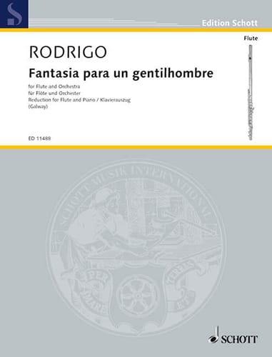 Fantasia para un Gentilhombre - Flöte Klavier - laflutedepan.com