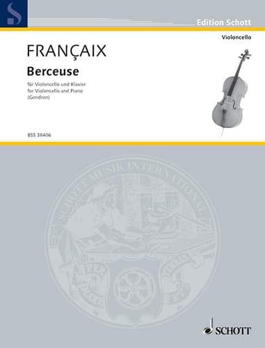Jean Françaix - Lullaby - Partition - di-arezzo.co.uk