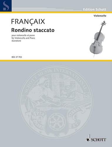 Jean Françaix - Rondino-Staccato - Partition - di-arezzo.co.uk