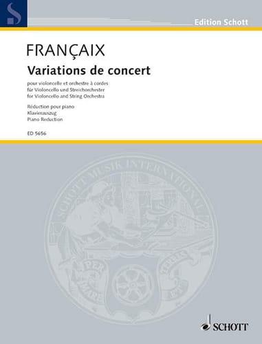 Jean Françaix - Concert Variations - Partition - di-arezzo.co.uk