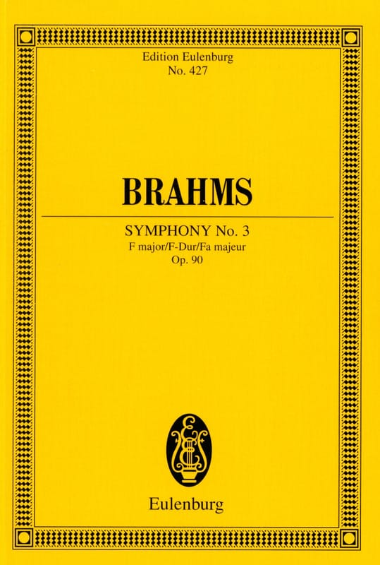 BRAHMS - Symphony No. 3 F Major Op. 90 - Conductor - Partition - di-arezzo.com