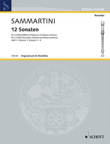 12 Sonaten - Heft 1 : Nr. 1-4 -2 Altblockflöten BC - laflutedepan.com
