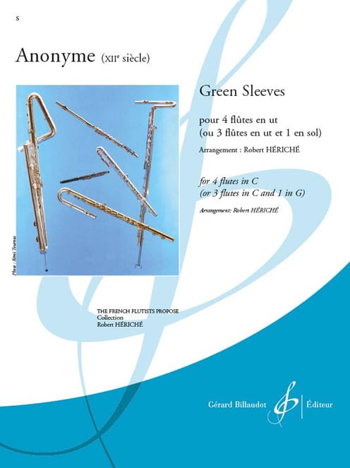 Green Sleeves - 4 Flûtes - Partition - laflutedepan.com