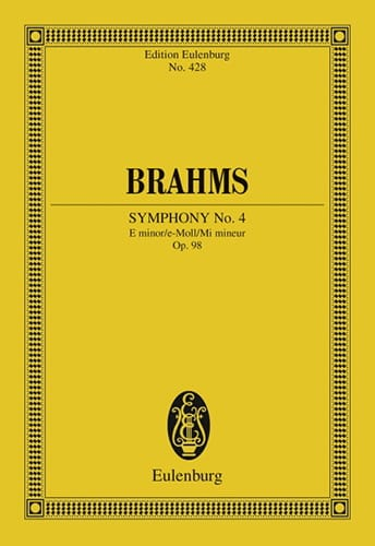 BRAHMS - Symphony No. 4 E Minor Op. 98 - Conductor - Partition - di-arezzo.co.uk