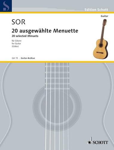 20 Augewählte Menuette - Fernando Sor - Partition - laflutedepan.com