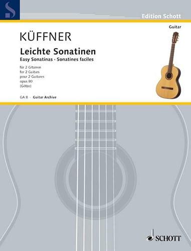 Leichte Sonatinen für 2 Gitarren - Joseph Küffner - laflutedepan.com