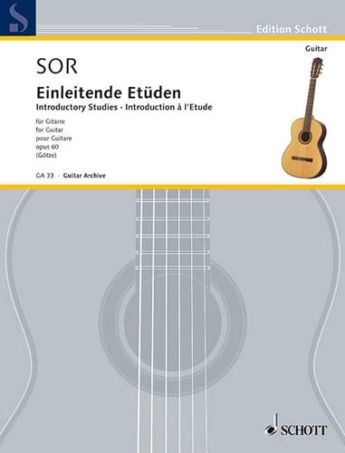 Fernando Sor - Einleitende Etüden op. 60 - Partition - di-arezzo.co.uk