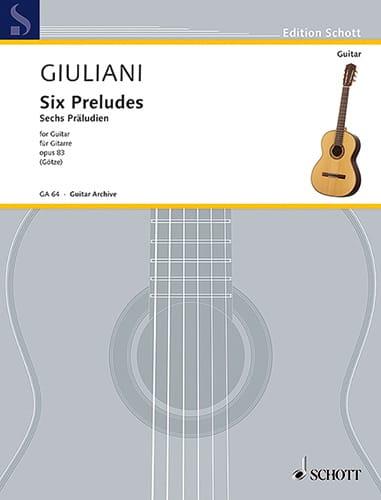 Mauro Giuliani - 6 Präludien, op. 83 - Partition - di-arezzo.com