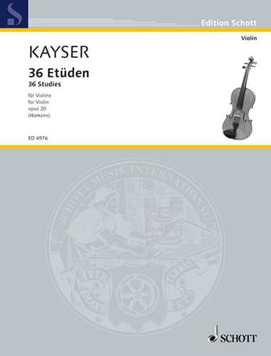 Heinrich Ernst Kayser - 36 Studies, op. 20 Hammann - Partition - di-arezzo.co.uk