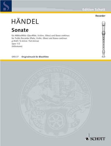 Sonate g-moll op.1 n° 2 - Altblockflöte u. Bc - laflutedepan.com