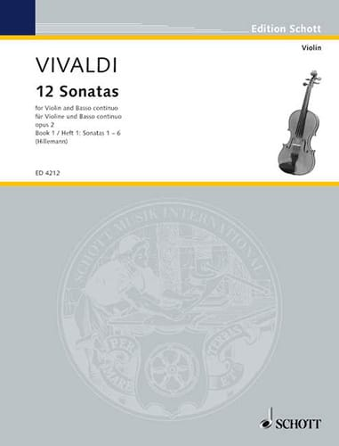 VIVALDI - 12 Sonatas op. 2 Volume 1 - Partition - di-arezzo.co.uk