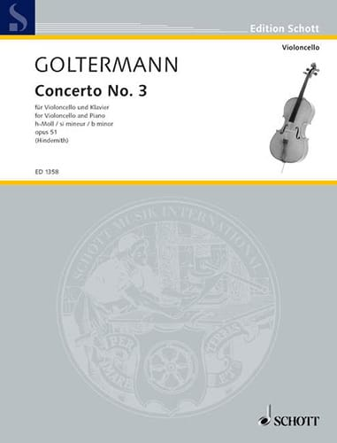 Georg Goltermann - Concerto No. 3 If Minor Opus 51 - Partition - di-arezzo.co.uk
