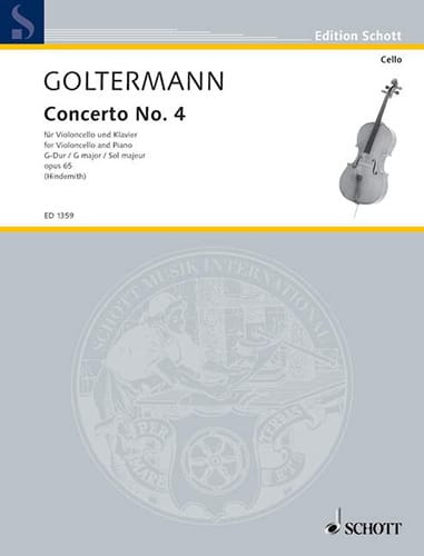 Georg Goltermann - Concerto No. 4 G major, op. 65 - Partition - di-arezzo.co.uk