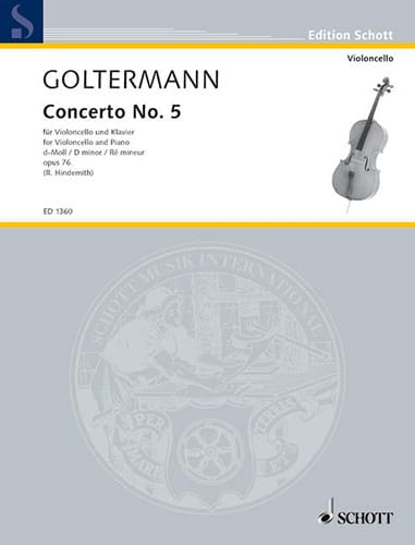 Georg Goltermann - Concerto No. 5 D minor op. 76 - Partition - di-arezzo.co.uk