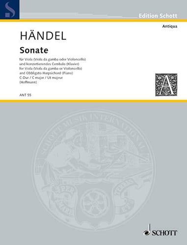 Sonate - HAENDEL - Partition - Alto - laflutedepan.com