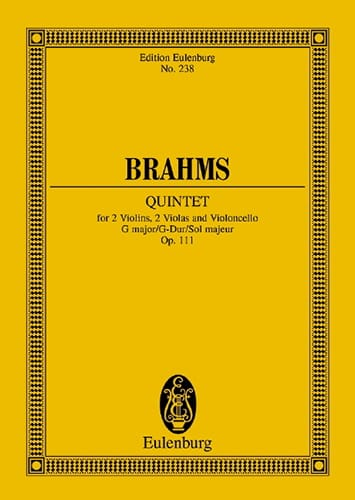 BRAHMS - Streich-Quintett G-Dur, Op. 111 - Partition - di-arezzo.co.uk