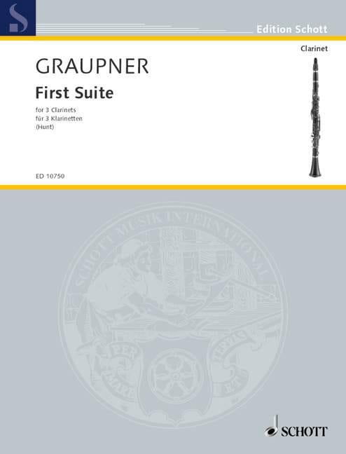 First Suite - Christoph Graupner - Partition - laflutedepan.com