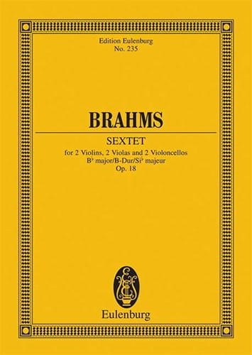 BRAHMS - Streich-Sextett B-Dur op. 18 - Partition - di-arezzo.co.uk