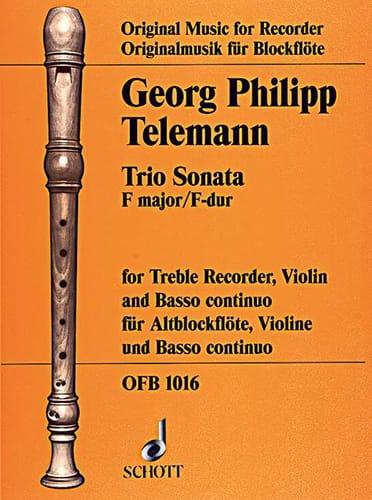 Trio Sonata F-Dur - Alblockflöte Violine Bc - laflutedepan.com