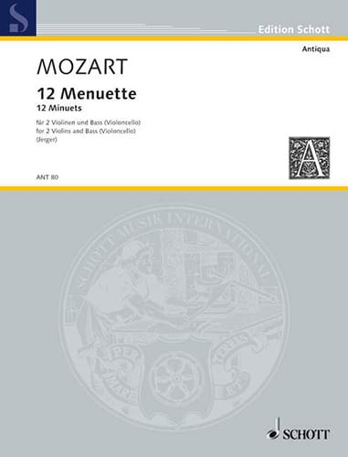 MOZART - 12 Menuette - 2 Violinen Bass Violoncello - Stimmen - Partition - di-arezzo.co.uk