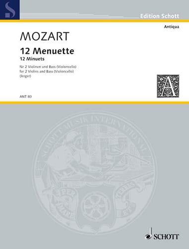 MOZART - 12 Menuette - 2 Violinen Bass Violoncello - Stimmen - Partition - di-arezzo.com