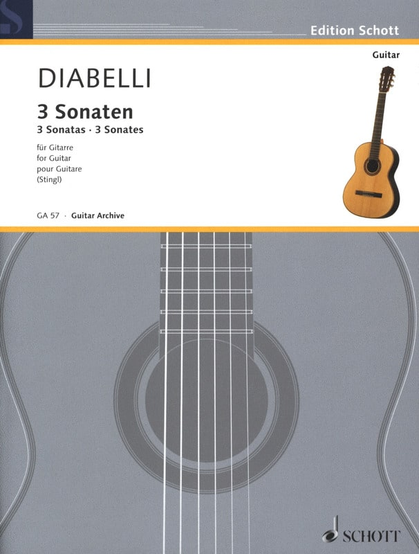 3 Sonaten -Gitarre - DIABELLI - Partition - laflutedepan.com
