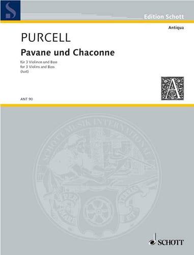 Henry Purcell - Pavane und Chaconne - 3 Violinen u. Bass - Partitur Stimmen - Partition - di-arezzo.co.uk
