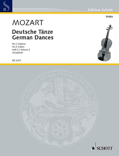 MOZART - Deutsche Tänze, Bd. 2 - Partition - di-arezzo.co.uk