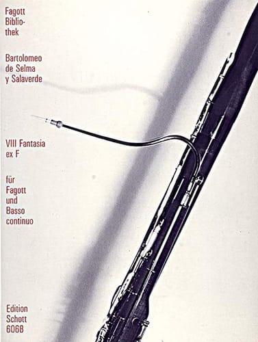Y Salaverde Bartolomeo De Selma - VIII Fantasia ex F - Partition - di-arezzo.co.uk