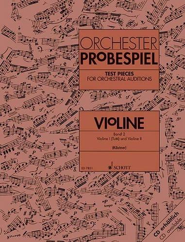 Oswald Kästner - Orchester-Probespiel - Violine Bd. 2 - Partition - di-arezzo.co.uk