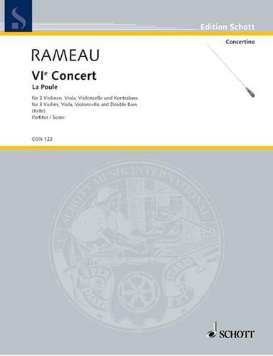 Jean-Philippe Rameau - Concert n° 6 La Poule - Partitur - Partition - di-arezzo.fr