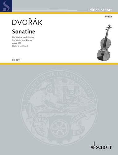 Sonatine op. 100 - DVORAK - Partition - Violon - laflutedepan.com