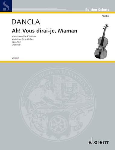 Ah! vous dirai-je, Maman op. 161 - DANCLA - laflutedepan.com