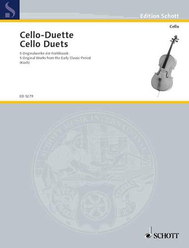 Cello-Duette - Edwin Koch - Partition - laflutedepan.com