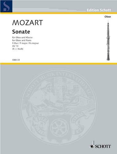 Sonate F-Dur KV 13 - MOZART - Partition - Hautbois - laflutedepan.com