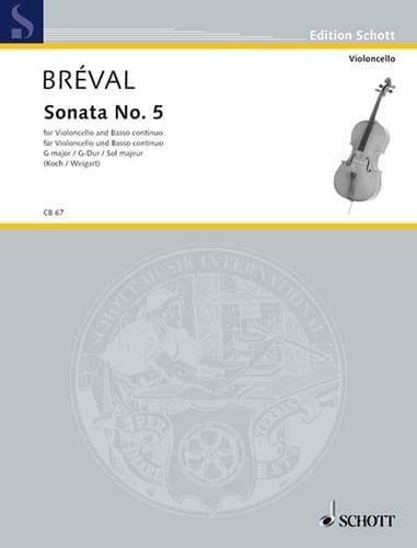 Jean-Baptiste Bréval - Sonata n. ° 5 G-Dur - Partition - di-arezzo.es