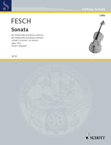 Sonate la mineur op. 13 n° 6 - Willem de Fesch - laflutedepan.com