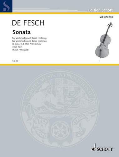 Sonata d-Moll, op. 13 n° 4 - Willem de Fesch - laflutedepan.com