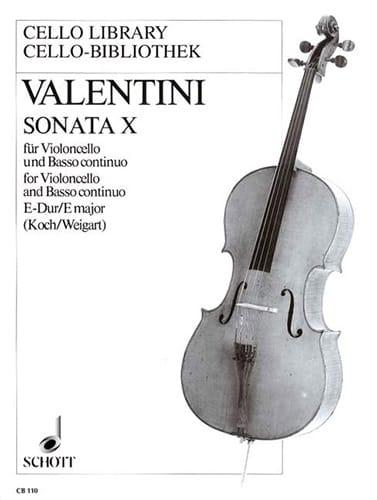 Sonata n° 10 E-Dur - Giuseppe Valentini - laflutedepan.com