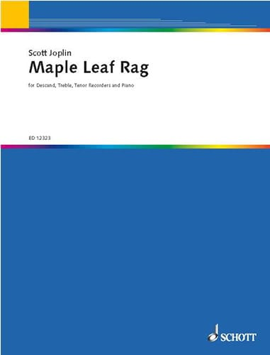 Maple leaf Rag - 3 Sopran-, Alt- u. Tenorblockflöten Klavier - laflutedepan.com