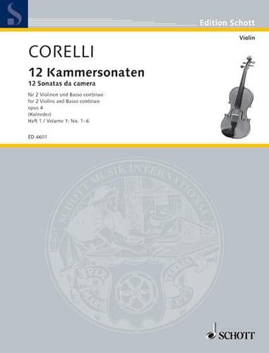 CORELLI - 12 Kammersonaten Op. 4 Bd. 1: Nr. 1-6 - Partition - di-arezzo.com