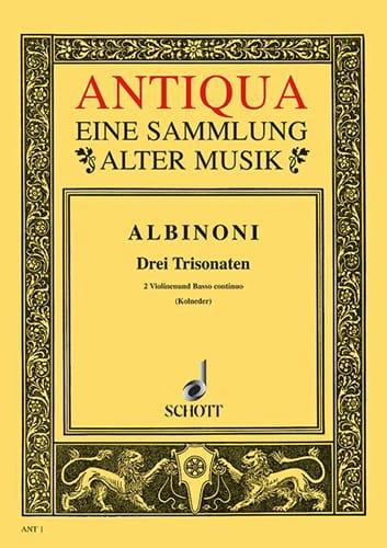 3 Triosonaten op. 1/10-12 -Stimmen - ALBINONI - laflutedepan.com